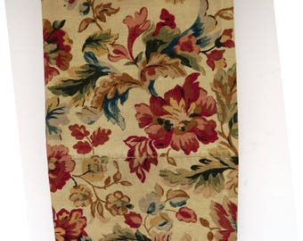 Ralph Lauren Highgate Woods King Pillowcase, Brown Green Red Floral, Vintage Bedding Sheets, Rustic Cabin Lodge Decor
