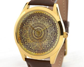 Mandala Women's Watch | Bohemian Christmas Gift | Boho Jewelry | Gifts For Women | Boho Chic Style Watch | Tribal Jewelry | FREE SHIPPING