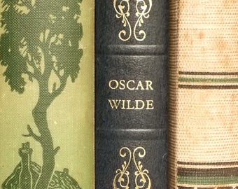 Oscar Wilde novel The Picture of Dorian Gray and other stories vintage book, faux leather book in dark blue