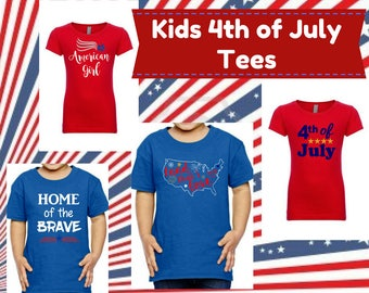 Kids fourth of july tee/holiday shirts/america tee/land that I love/kids fourth shirt/red white and blue/kids custom 4th of July shirt/USA
