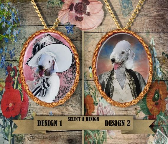 Bedlington Terrier  Jewelry. Bedlington Terrier  Pendant or Brooch. Bedlington Terrier Necklace. Custom Dog Jewelry by Nobility Dogs
