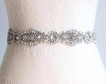 Crystal wedding belt sash wedding dress belt, bridal belt
