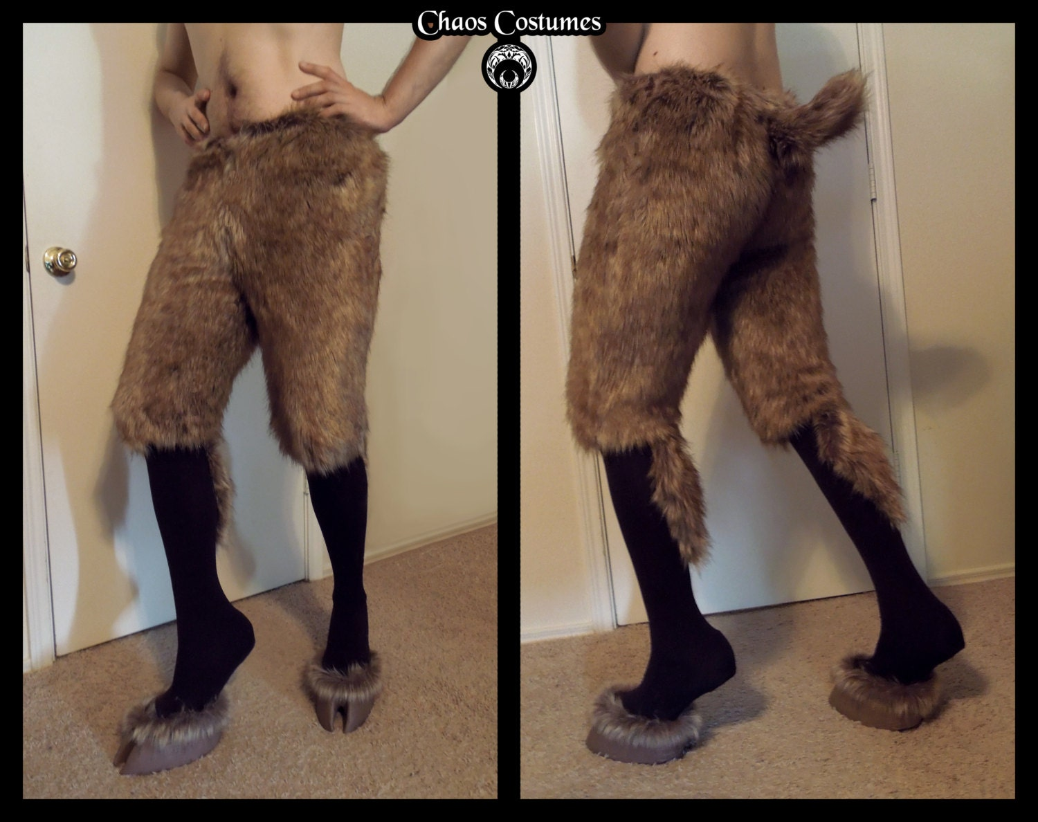 Faun Leggings Hooves Fur Uppers Chaoscostumes