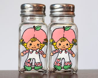 SALE! Strawberry Shortcake Apricot Salt and Pepper Shakers