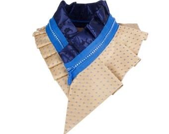 Collar necklace, unique accessory, zipper collar, silk collar, only one piece #172