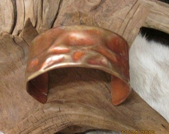 Air Chased Copper Cuff Bracelet