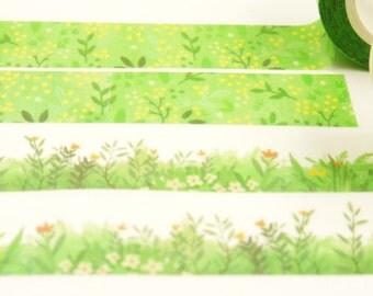 Splendor in the Grass - Japanese Washi Masking Tape - 7.6 yard - 1 pc