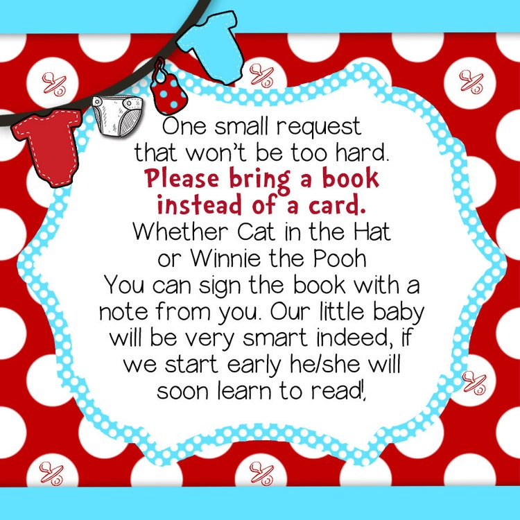SEUSS BABY SHOWER Personalized Dr Seuss By BlissfulBethDesigns