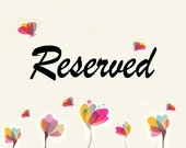 Reserved for Mimi Sison