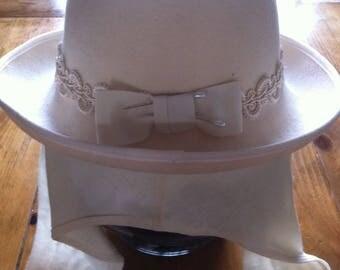 Bettmar Street Smart Vintage Ladies Wool Felt Hat