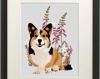 Corgi Print, Corgi wall decor gift