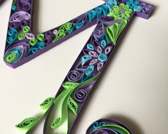 Quilled Monogram- Customized for Girl/Boy 8X10