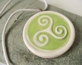 Ceramic Triskelion Pendant