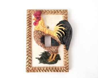 Lightswitch Cover Plate - Switchplate Cover - Light Switch Cover Electrical Outlet Cover Switch Plate Cover Farmhouse Kitchen Rooster Decor