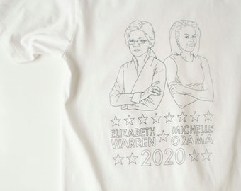 the FUTURE 2020 election shirt Elizabeth Warren & Michelle OBAMA democratic ticket ACLU fundraiser t-shirt
