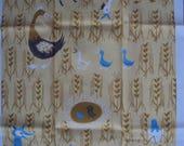 MWT Vtg. Tea Dish Towel Fox and Hen NOS
