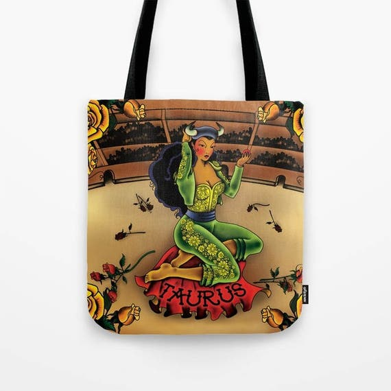 Zodiac Horoscope Tattoo Taurus Tote Bag