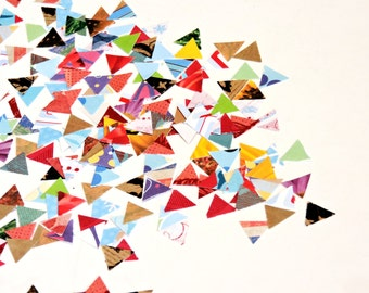 Tiny Multi-Colored Triangle Confetti, Itty Bitty Scrapbook Embellishments, Paper Mosaic Pieces, Die Cuts, Art Craft Supply itsyourcountry