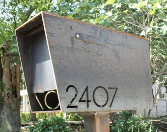 The Dexter Custom Mailbox - Steel Modern Metal Letter Box