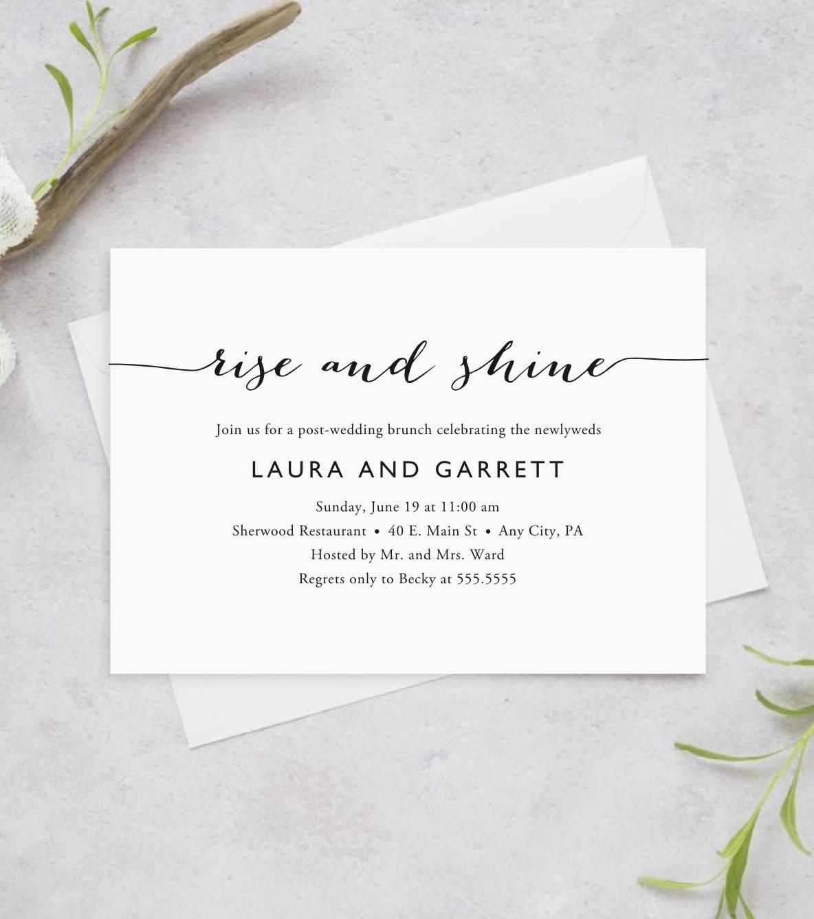 printable post-wedding brunch invitation bridal shower, Wedding invitations