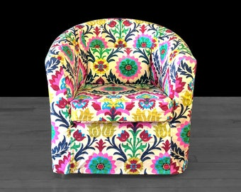Colorful Floral IKEA TULLSTA Chair Cover