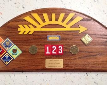 Arrow of Light Award Oak Plaque #3