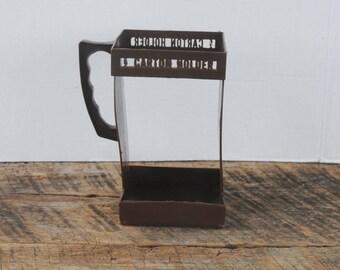 Vintage EZ Plastic Carton Holder Chocolate Brown Half Gallon Milk or Juice Refrigerator Holder