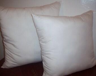 Pillow Insert, 20x20, 22x22 pillow insert, pillow form, white cotton pillow insert.