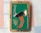 "Vintage Soviet Russian badge,pin.""Ostrich"""