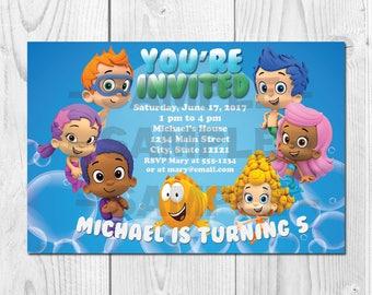 Bubble Guppies Printable Birthday Invitation