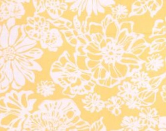 Two 20 x 20  Designer Decorative Pillow Covers - Large Floral - Sun Yellow/White