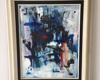 Abstract Painting Vintage Framed