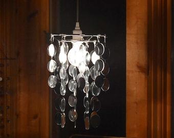 Mirror Swag Lamp OOAK