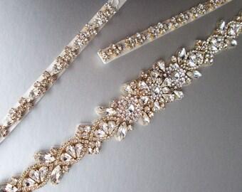 Wedding belt, Bridal belt sash, Fitted bridal belt with clasp, Swarovski bridal belt, Bridal rhinestone belt, Bridal belt in gold or silver