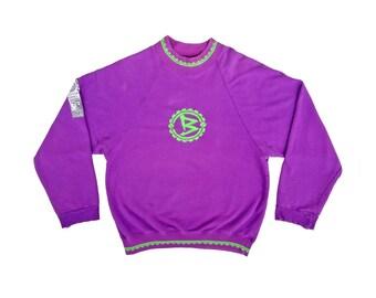 Distressed 80s Soviet Boardheadz Snowboard Crewneck Sweatshirt - L