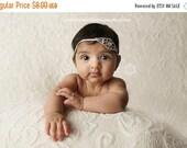 Newborn Bling Headband Baby Rhinestone Headband Sweet Golden Beauty Rhinestone Headband In Gold Simple Newborn Photo Prop