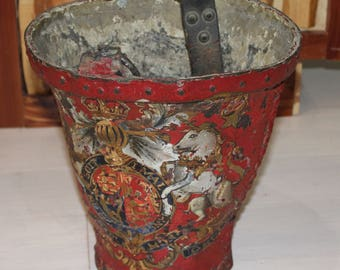 Antique Fresh Water Fire Bucket – European circa 1890