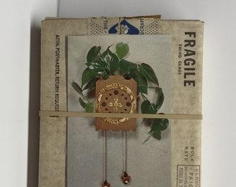 Clock Planter Fad of the Month Club Rus-tic-tock wood planter Hand Craft Society Original 1965 January RUS-TIC-TOCK