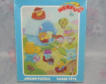 Vintage Nerfuls Puzzle - Complete with All Pieces - Nerful House, Cars, etc.