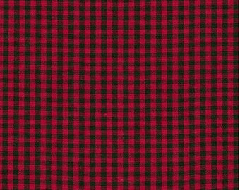 Red Buffalo Plaid 1/8 Inch Small Gingham (Scarlet) from Robert Kaufman's Carolina Gingham Collection - P-5689