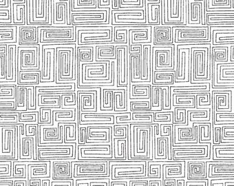 Black & White Maze Print from Andover Fabric's The Color Collection