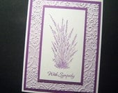 Deep Lavender Garden Sympathy Card