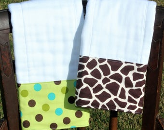Burp Cloth Set, Monogrammed Burp Cloth Set, Personalized Burp Cloth Set, Gender Neutral Burp Cloth Set