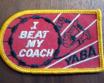 YABA I Beat My Coach Patch Badge Red Black Yellow White
