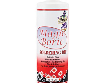 Magic Boric Soldering Dip - Flux is Built In - Prevents Fire Scale - Cuts Soldering Time - Jewelry Making Tool