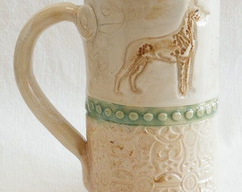 dog ceramic 20oz coffee mug stoneware 20D022