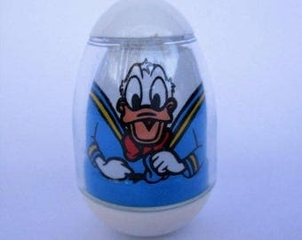 Spring SALE 20% Off Vintage Donald Duck Weeble, Walt Disney Productions 1970s Rare Collectible Toy