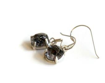 Herkimer Diamond Earrings. Small Dangle Earrings. 925 Sterling Silver Earrings. Mother's day gift.
