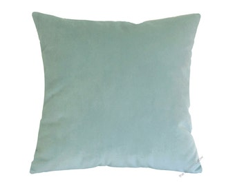 Pool Green Velvet Suede Decorative Throw Pillow Cover / Pillow Case / Cushion Cover / 20x20""