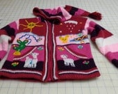 Girl's red and pink hoodie ready to ship